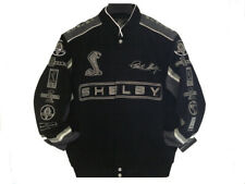Authentic Carroll Shelby Racing Embroidered Cotton Jacket JH Design Black