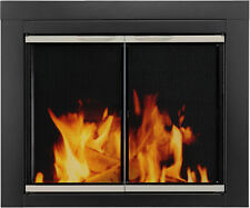 Fireplace Glass Doors Pleasant Hearth Alsip Black/Nickel Trim Free Ship
