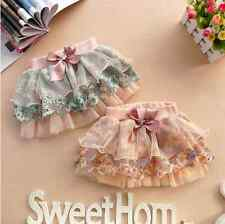 Girls Kids Baby Tulle Layered Skirt Dress Floral Princess Party Tutu Skirts 2-6Y