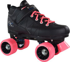 Pacer GTX-500 Roller Skates w/ Pink Laces & Pink Wheels