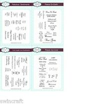 Sentiments A5 Clear Rubber Stamp Sets Creative Expressions New Designs Reduced *