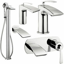 CROSSWATER ESSENCE BATHROOM TAPS MODERN CHROME BASIN MIXER BATH SHOWER FILLER