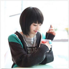 New Fashion Women's Cosplay Party Full Short Wigs Straight Wig Hair Black/Brown