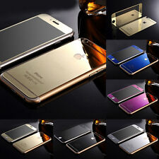 Gold Mirror Tempered Glass Front+Back Screen Protector For iPhone 4S 5S 6/6 Plus