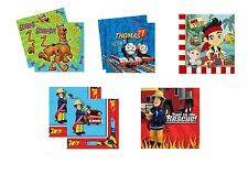 LUNCHEON NAPKINS - Young Boy Birthday - Cartoon Designs (Tableware/Party/Kids)