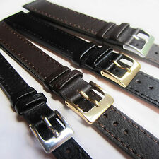 XXL Extra Extra Long LEATHER WATCH STRAP, Black or Brown All Sizes 10 - 24mm