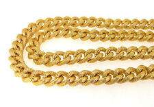 "Newest Charm Dot Shiny Gold Plated Chunky Aluminium Curb Chain Necklace 18"" 38"""