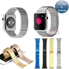 Link Bracelet Band Strap For Apple Watch Butterfly Closure 316L Stainless Steel