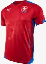NEW Mens Size L PUMA Czech Republic Red Home S/S Soccer Jersey Shirt NWT