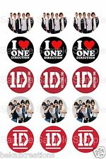 """15 Printed Precut 1"""" Bottle Cap Circle Images- One Direction FREE SHIPPING"""