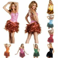 BeWicked 1298 Sexy Strappy Sequin Feather Dress