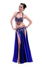 C853 Belly Dance Costume Outfit Set Bra Top Belt Hip Scarf Skirt Carnival Indian