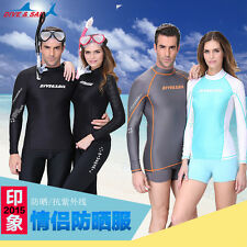 New Long Sleeve Rash Guard Swim Surfing Shirt Top Sun Shirts Swimwear Lycra Top
