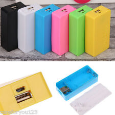 Portable USB Mobile Power Bank Charger Pack Box Battery Case Cover for 2 x 18650