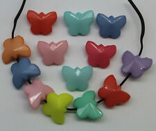 Free shipping 11 x 14 x 7mm Colorful butterfly acrylic charms beads