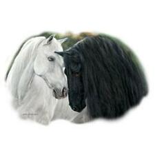 Black and White Horses, Western, Cowgirl, T-shirt S, M, L or XL