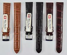 My Swiss Imitation Leather Strap Crocodile Pattern Watch Band Width 16 mm.