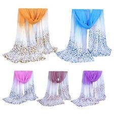 Women Chiffon Scarf Excellent Neck Shawl Long Pashmina Girl Scarves Casual 1KL7