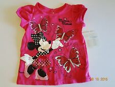 New Disney Minnie Mouse baby top Newborn 6 12 months Pink Butterfly Tulle