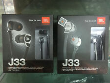 Genuine New boxed JBL J33 Pure Bass In-Ear Earphones for cellphone  MP3