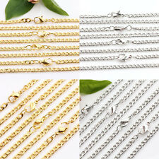 Elegant 2/10Pcs White K Golden Plated Cable Open Iron Metal Chain DIY Finding