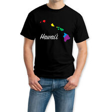 Hawaii State - Gay Lesbian LGBT Pride 100% Cotton Crew Neck  T-shirt