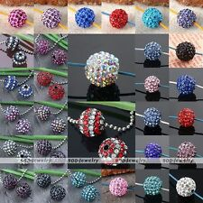 5pcs Crystal Rhinestone Disco Ball Loose Beads 10/12mm Spacer Jewelry Findings