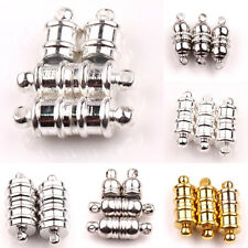 New  5/10Sets White K  Gold Silver  Oval Strong Magnetic Clasps Jewelry Making