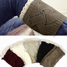 Vogue  Women Crochet Knitted Lace Trim Boot Cuffs Toppers Liner Leg Warmers Sock