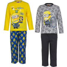 NEW OFFICIAL MINIONS BOYS GIRLS LONG SLEEVED MINION PYJAMAS PJS KIDS CLOTHING