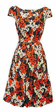 New Poppy Ditsy Floral WWII 1930's/40's Vtg style Land Girl Swing Tea Dress