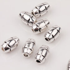 15/30Pcs Tibet Silver Charms Carve Bead Jewelry Bracelets Finding DIY 8x5mm