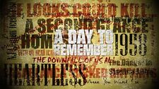 A Day to Remember Music Star Fabric Art Cloth Poster 43inch x 24inch Decor 22