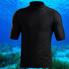 Men's  Short Sleeve Rash Guard Swim Sun Shirt Surfing Top Swimwear RASH VEST Top
