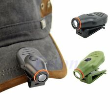 Bright Clip-on LED Cap Hat Light Headlamp Torch Fishing Hunting Camping Outdoor