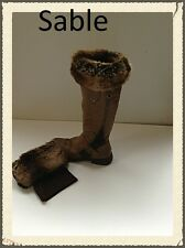 Faux Fur Boot Toppers/cuffs  A ribbed boot liner with a faux/ fur turnover top