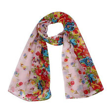 2015 Autumn Winter Women Scarf Floral Pastoral Soft Long Voile Wraps Shawl GIFTS