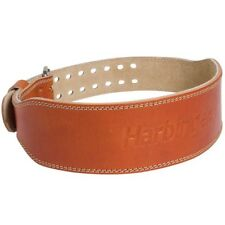 """Harbinger 4"""" Classic Oiled Leather Weight Lifting Belt - Brown"""