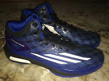 NEW Mens 10 ADIDAS Crazy Light Boost Black Blue White Basketball Shoes Sneakers