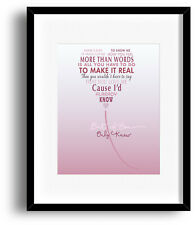 Extreme Lyric Print MORE THAN WORDS Love Song Lyrics Art Poster - 90s Music