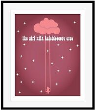 """The Beatles Art Poster """"Lucy in the Sky with Diamonds"""" Song Lyric Music Print"""