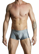 Mens New Solid Hot Body Boxer Swimsuit Gary Majdell Sport Charcoal