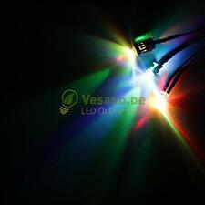 10 Cabled LEDs 5mm RGB Slow Red Green Blue LED Cable for 3V-24V PC