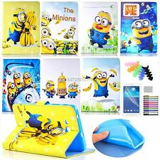Minions Cartoon Case for Samsung T110 T280 T560 iPad PU Leather Stand Flip Cover