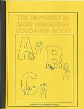 Deaf Hard Hearing Impaired Alphabet in Sign Language Coloring Book Children