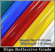33ft/ RED /REFLECTIVE Tape/Sheet/Film/Intensity High Grade/Vinyl/Adhesive/HIP