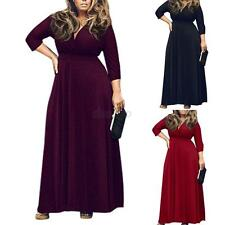 Long Sleeve Women Lady Maxi Dress Party Evening Plus Size Full-length Dress New