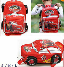 New Child Kids Disney Pixar 95 Cars McQueen Backpack School Bag Boy Xmas Gift