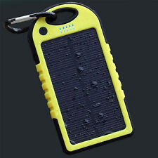 New 5000 mah Dual-USB Waterproof Solar Power Battery Charger For Mobile Charger