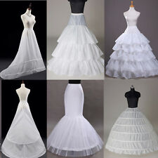 NEW White Bridal Wedding Dress Prom Gown Petticoat Underskirt Skirt Crinoline